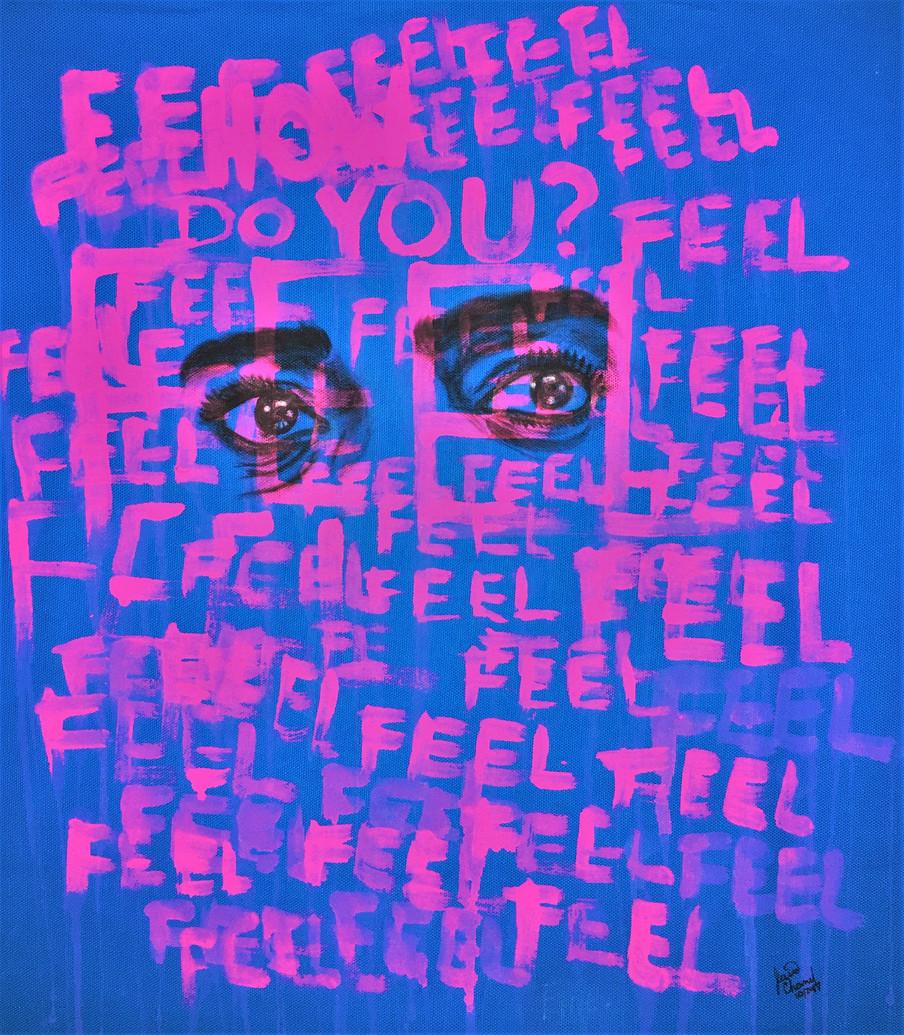 Illartpeace,How Do you Feel, 2019, Mixed Media on canvas, 18in x 24in, Birmingham, AL
