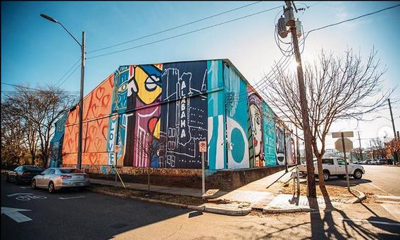 Andy Jordan, Collaborative Artists, Illartpeace, 2020, Acrylic, 23rd St S & 1st Ave S Birmingham, AL photo credit: H2Realestate