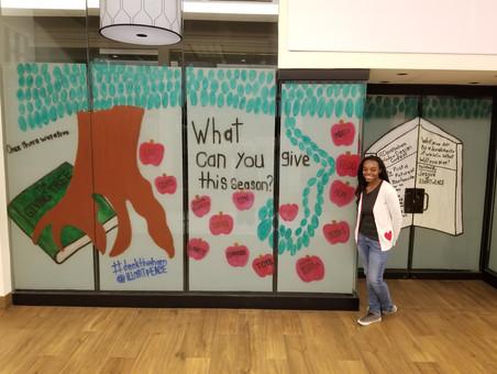 Giving Tree Window Mural