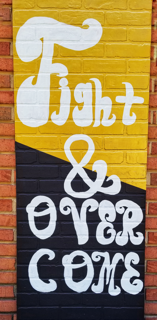 Illartpeace, Fight, 2019, Mixed Media on board and 100 paper cranes, 24in x 4ft, Birmingham, AL