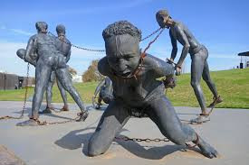 Kwame Akoto- Bamfo, Nkyinkim, 2017, Bronze, National Memorial for Peace and Justice, Montgomery, AL