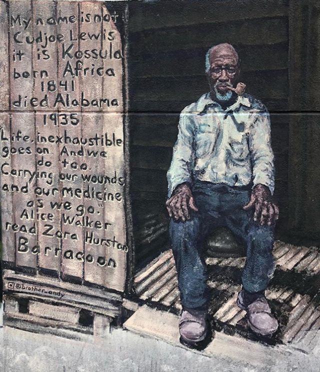 Andy Jordan, Kossula, Acrylic on Wall, 2020, 1901 2nd Ave N, Birmingham, AL photo credit: Andy Jordan