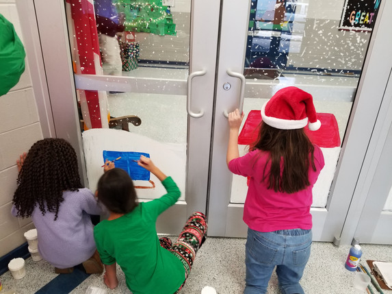 Winter School Mural with Ms. O'Toole's Class