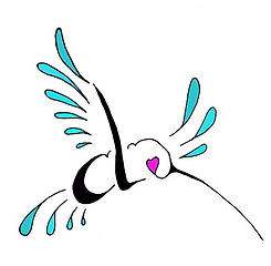teal without line.JPG humming bird logo.