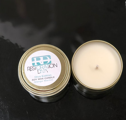 """The Diva Edition Soy Wax Candle """"Mango Martini """""""