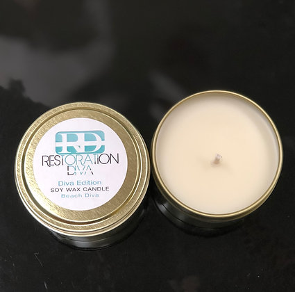 """The Diva Edition Soy Wax Candle """" Beach Diva"""