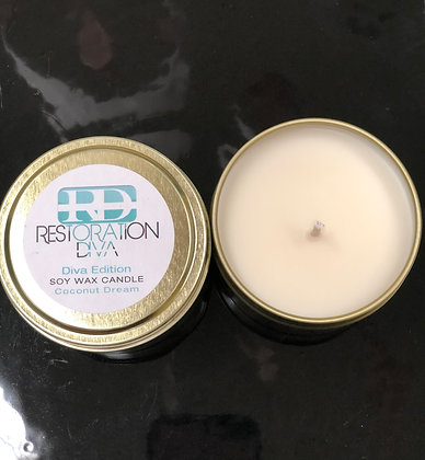 """The Diva Edition Soy Wax Candle """" Coconut Dream"""""""
