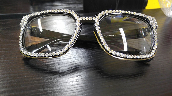 Crystal Personality Glasses (Black Frame)