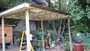 New Shade Structure and Rainwater Harvesting System at Fordham Beford Community Garden