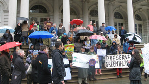 Land Trust Members Attend Rally to Save GreenThumb