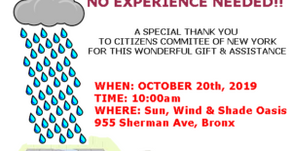 WATER HARVESTING BUILDING EVENT 10/20/2019 @ 10am