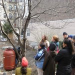 Pruning with Bronx Green-Up at Davidson Avenue Garden