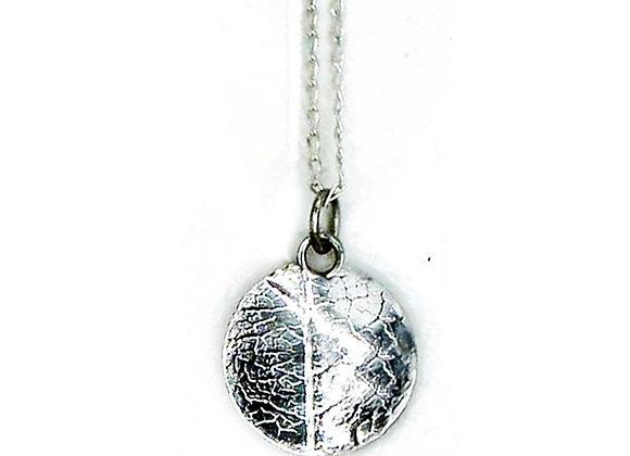 Silver Skeleton Leaf Pendant