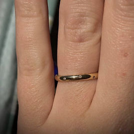 Wedding Ring commission by Jewellery by Annamarie
