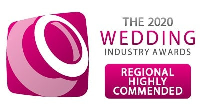 Awarded highly commended at the Wedding Industry Awards