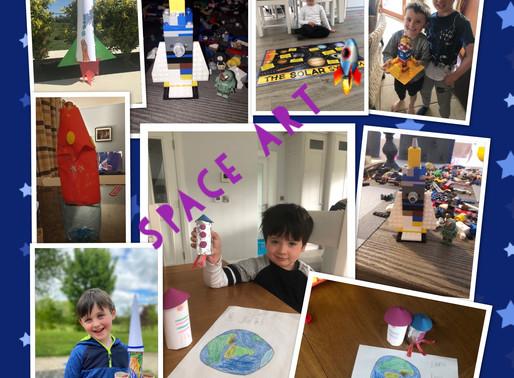 Junior Infant Space Art