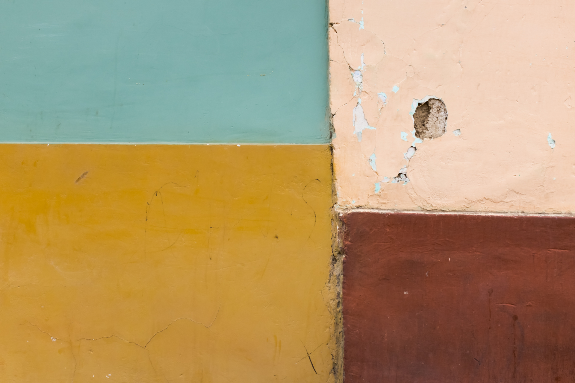 House wall abstract