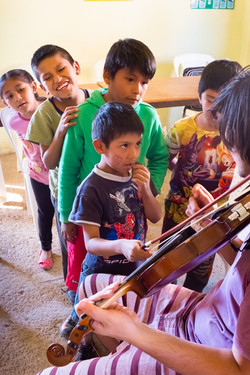 Martine teaches violin