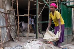 Building site labourer
