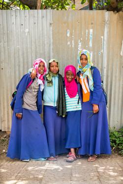 Four muslim girls