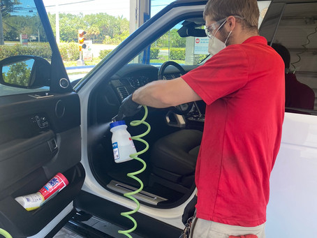 Due to Spike of COVID-19 Cases, Rising Tide Car Wash Offers Complimentary Interior Disinfectant