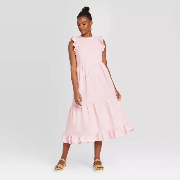 Sleeveless Tiered Ruffle Dress