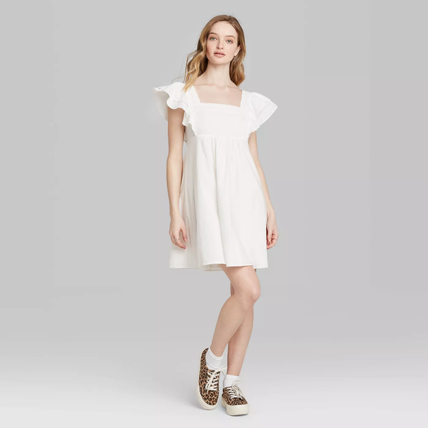 Short Sleeve Woven Dress