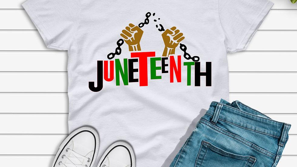 Juneteenth Broken Chains Tshirt