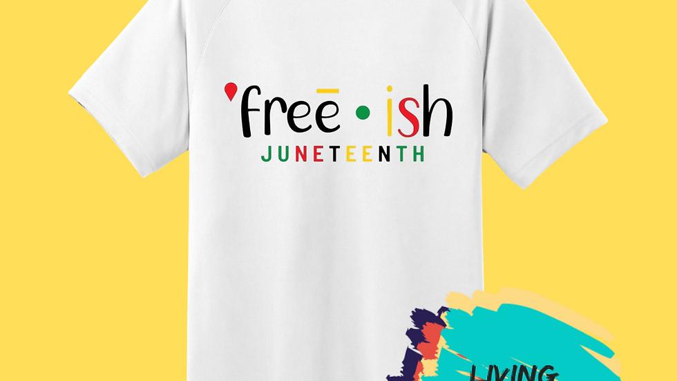 Free-ish Juneteenth Tshirt (White Multi-Color)