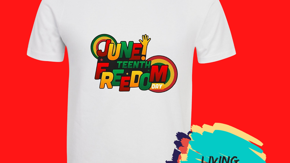 Juneteenth Freedom Day Tshirt (Green, Yellow, Red)
