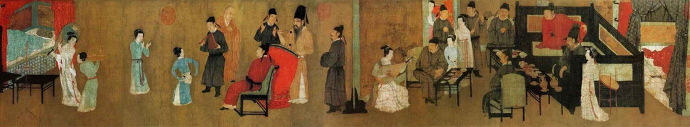Night Revels of Han Xizai (Part Two), by Artist Gu Hongzhong of the Five Dynasties and Ten Kingdoms