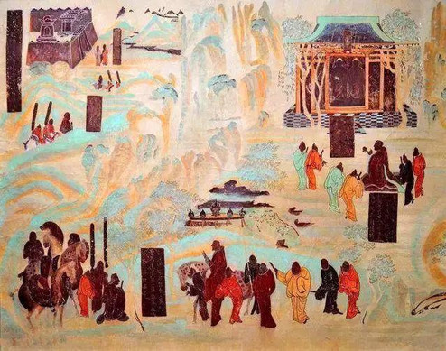 History of Zhang Qian's Opening Up Silk Road, Mogao Cave 323.