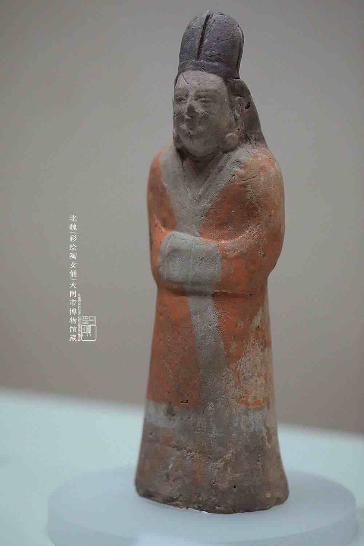 Unearthed Painted Pottery Figurine — Datong Museum