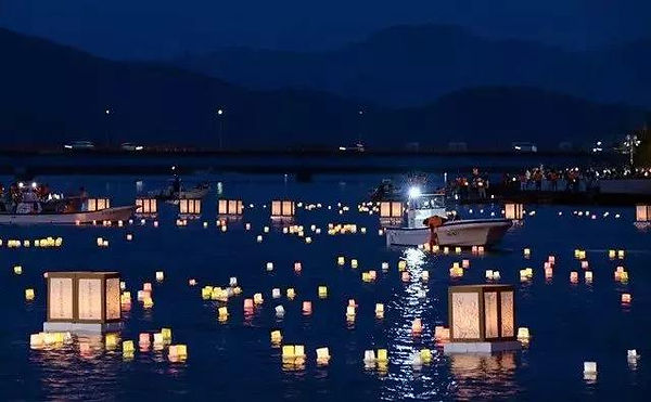River Lanterns on Ghost Festival in China
