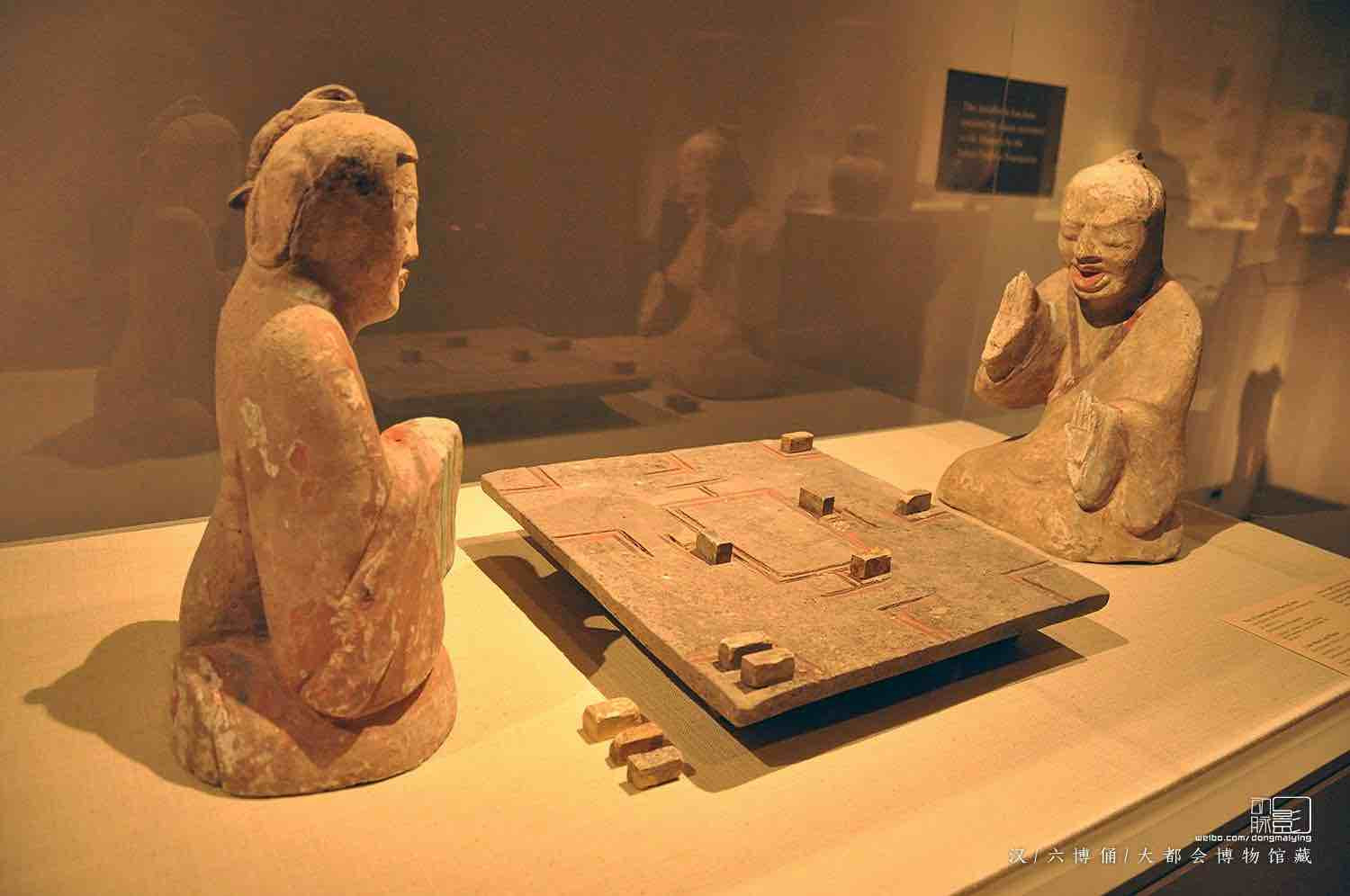 Unearthed Pottery Figurine Playing Ancient Board Game Liu Bo — Metropolitan Museum of Art