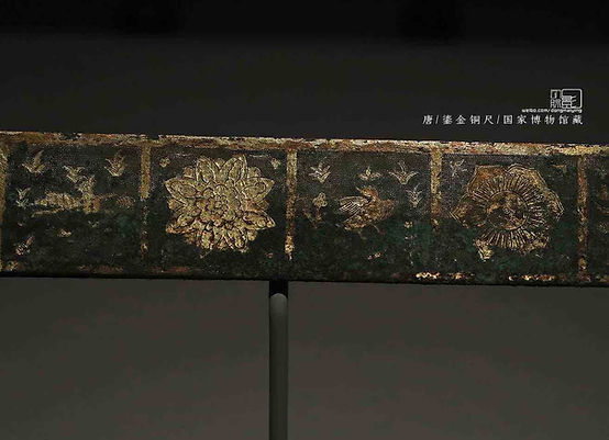 Inlaying Gold Ruler of the Tang Dynasty