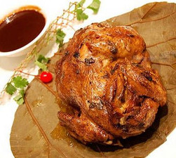 Chicken Grilled with Lotus Leaf