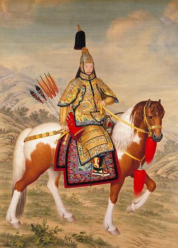 Qianlong Emperor in Ceremonial Armour