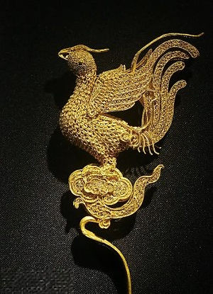Golden Phoenix Hairpin of the Ming Dynasty (1368 — 1644)