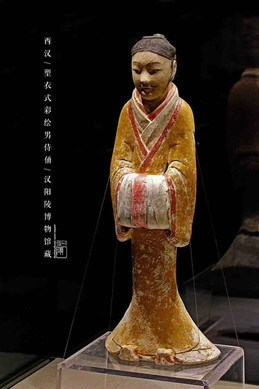 Unearthed Pottery Figurine of Imperial Servants (Front) — Hanyangling Museum