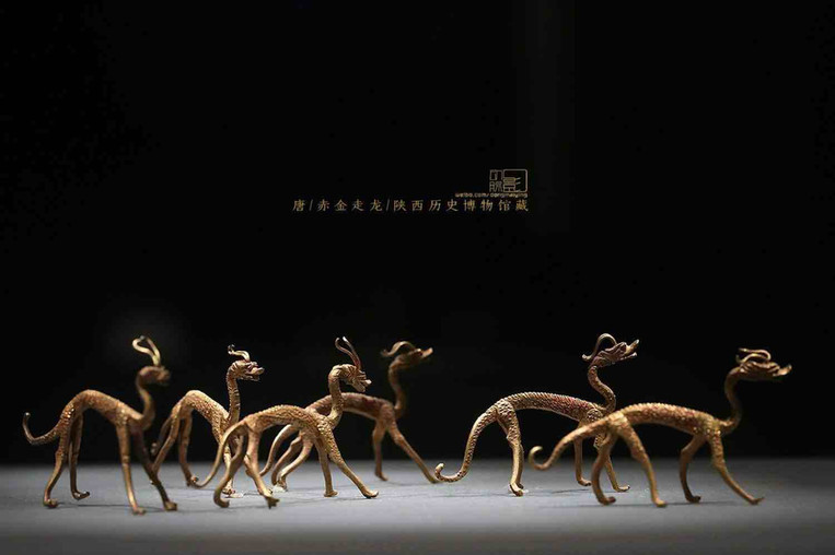Gold Dragons of the Tang Dynasty (618 — 907) — Shaanxi History Museum (Photo by Dongmaiying)
