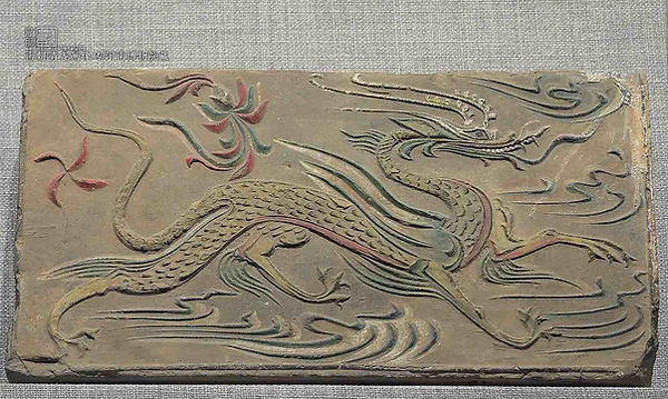 Cyan Dragon on Pictorial Bricks of the South Dynasties
