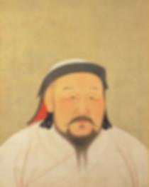 Portrait of Kublai Khan the Emperor Shizu of Yuan, By Artist Liu Guandao of the Yuan Dynasty
