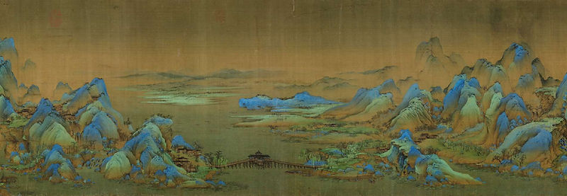 Landscape Painting by Wang Ximeng (1096 — 1119)