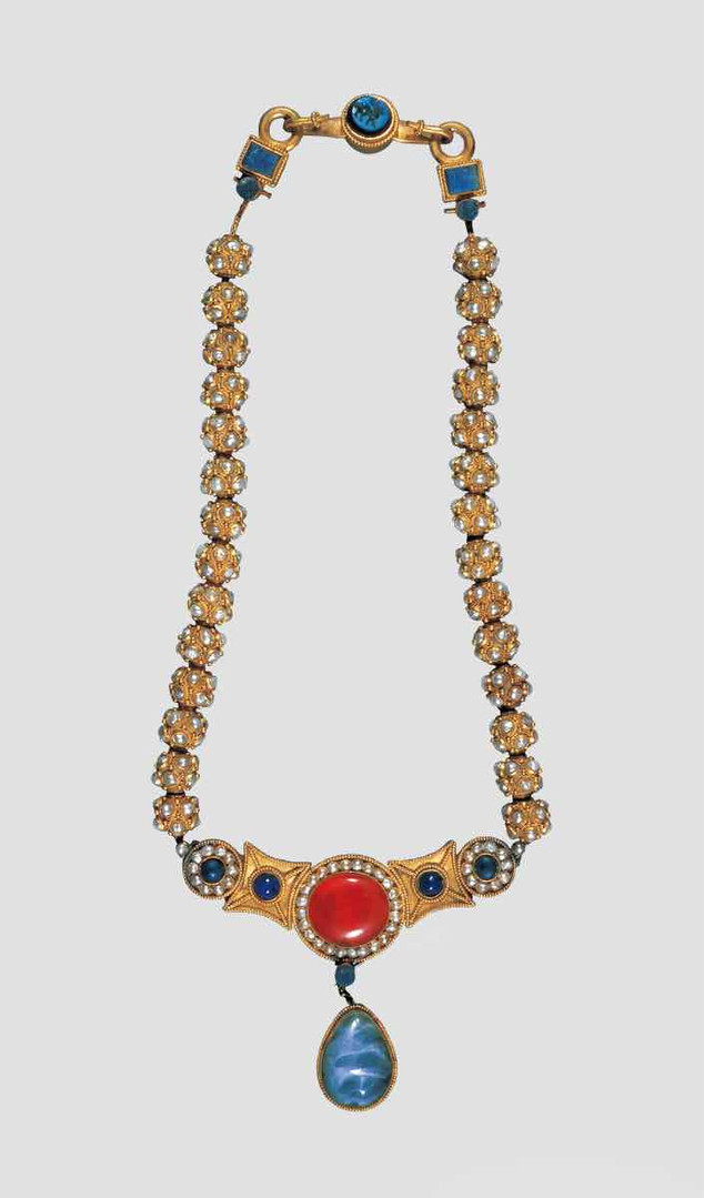 Gem Decorated Gold Necklace of the Sui Dynasty (589 — 619) — National Museum of China