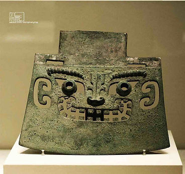 Unearthed Bronze Weapon Yue of the Shang Dynasty