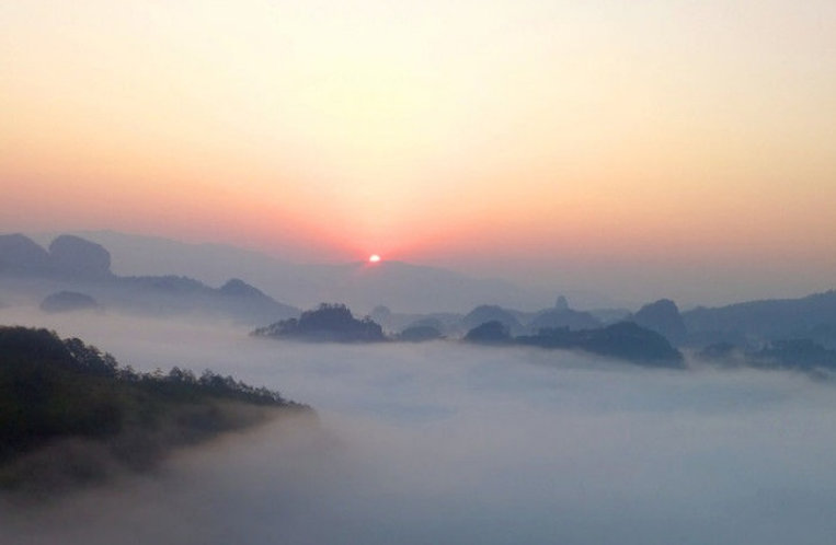 Sunrise View of Mount Wuyi