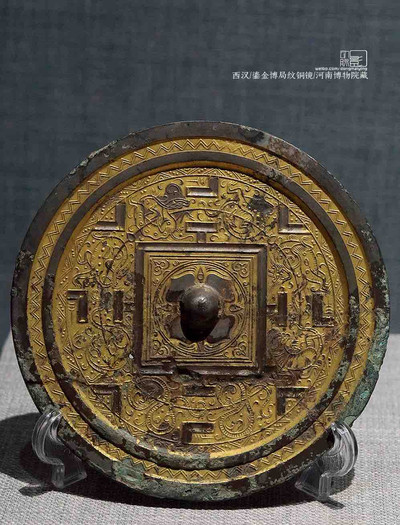 Gilt Bronze Mirror of the Han Dynasty