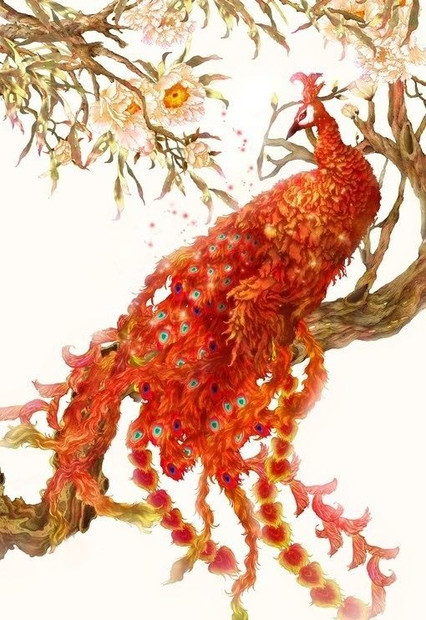 Red: Feng, the king of birds.
