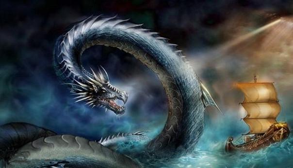 Mythical animal dragon Jiao Long